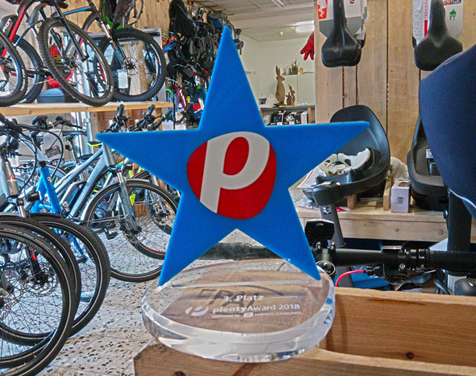 Plenty Award im BIKEBOX Ladengeschäft in Rottweil