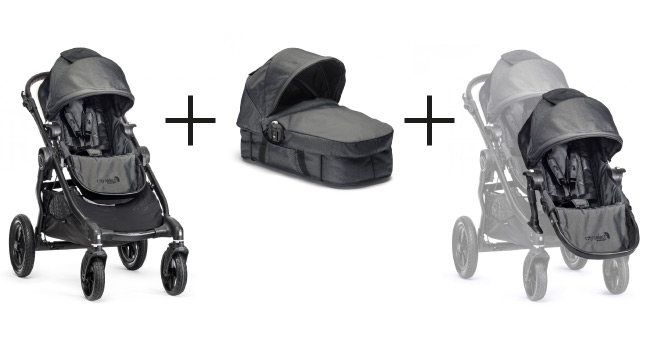 Baby Jogger City Select Premiumpaket Black Denim