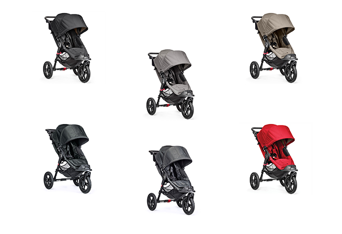 baby jogger CITY ELITE® ohne Handbremse in den Farben: black, blackdenim, titanium, gray, red und sand