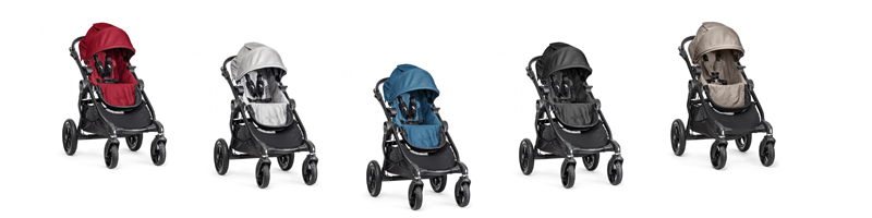 baby jogger CITY SELECT® 2014 in Red, Silver, Teal, Black und Sand