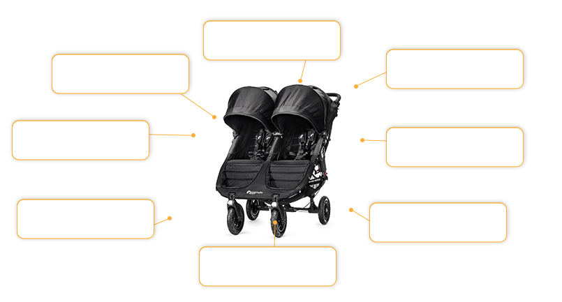 baby jogger CITY MINI™ GT double in black