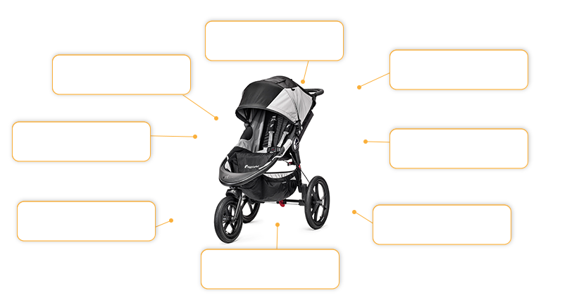 baby jogger SUMMIT™ X3 Single in black/gray