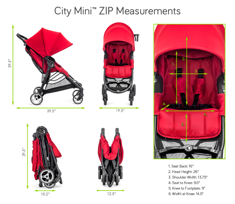 Spezifikationen von Baby Jogger city mini zip