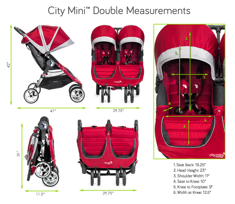 Spezifikationen von Baby Jogger city select