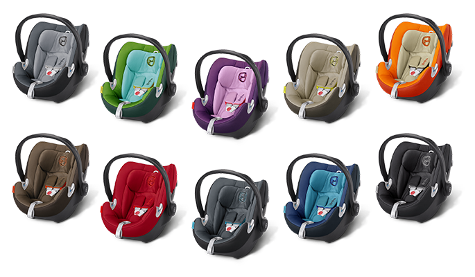 Cybex Aton Q Kindersitz in den Farben Moon Dust, Hawaii, Grape Juice, Limetsone, Autumn Gold, Coffee Bean, Hot & Spicy, Black Sea, True Blue und Black Beauty
