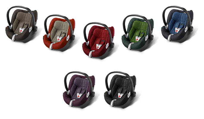 Cybex Aton Q Plus Kindersitz in den Farben Desert Khaki, Autumn Gold, Hot & Spicy, Hawaii, True Blue, Grape Juice und Black Beauty
