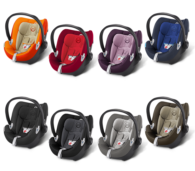 Cybex Aton Q 2016 in Autumn Gold, Mars Red, Princess Pink, Royal Blue, Happy Black Phantom Grey, Manhatten Grey und Olive Khaki
