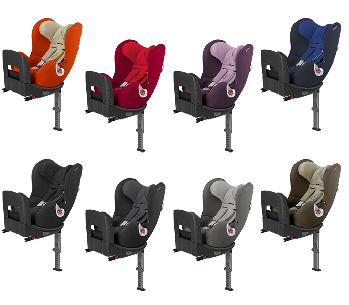 Cybex Sirona Plus 2016 in Autumn Gold, Mars Red, Princess Pink, Royal Blue, Happy Black Phantom Grey, Manhatten Grey und Olive Khaki