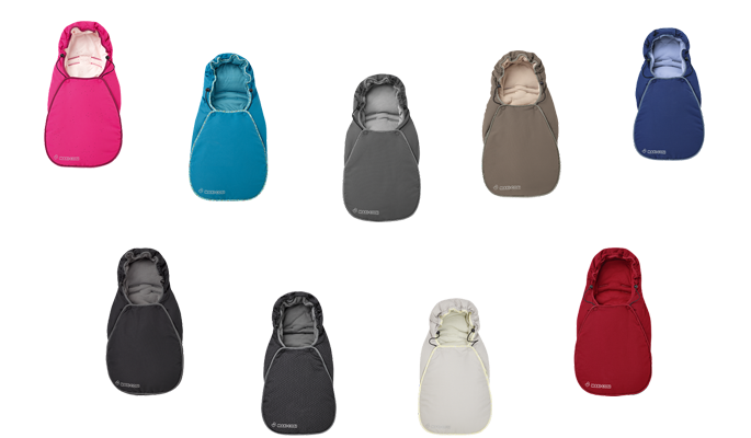 Maxi Cosi Fußsack CabrioFix in Berry Pink, Mosaic Blue, Concrete Grey, Earth Brown, River Blue, Black Raven, Black Crystal, Digital Rain und Robin Red