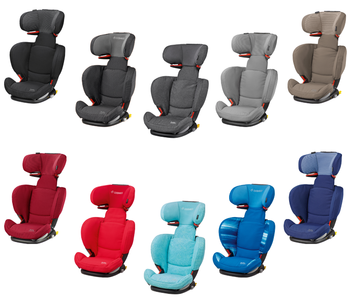 Maxi Cosi Rodifix AirProtect in Black Raven, Black Crystal, Sparkling Grey, Concrete Grey, Earth Brown, Robin Red, Origami Red, Triangle Flow, Watercolor Blue und River Blue