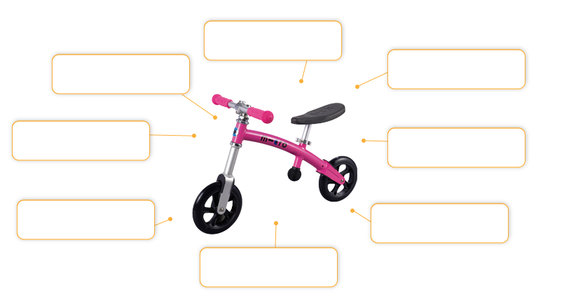 Micro Laufrad / G-Bike+ in pink