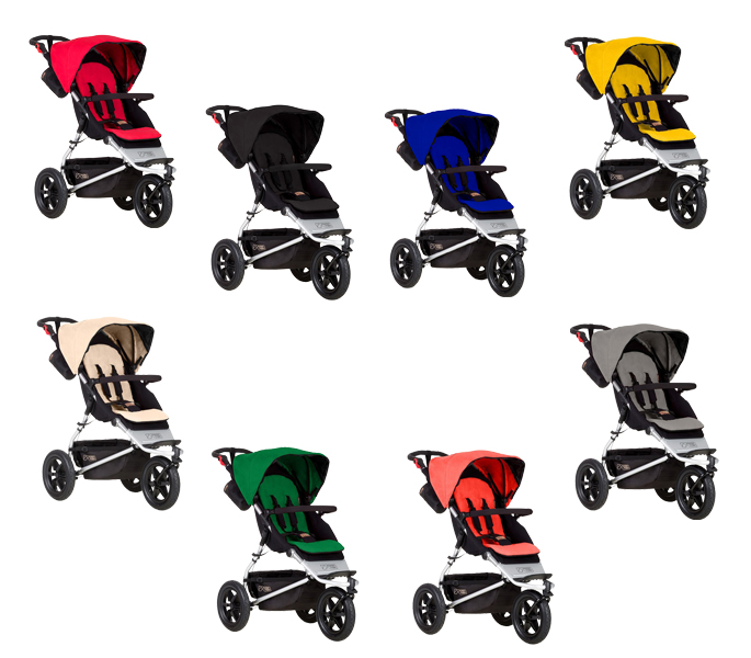 Mountain Buggy Urban Jungle 2015 in Berry, Black, Marine, Gold, Sand, Fern, Coral und Silver
