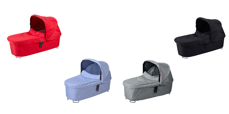 phil & teds Dash snug Tragetasche in red, grey marl, blue marl und black