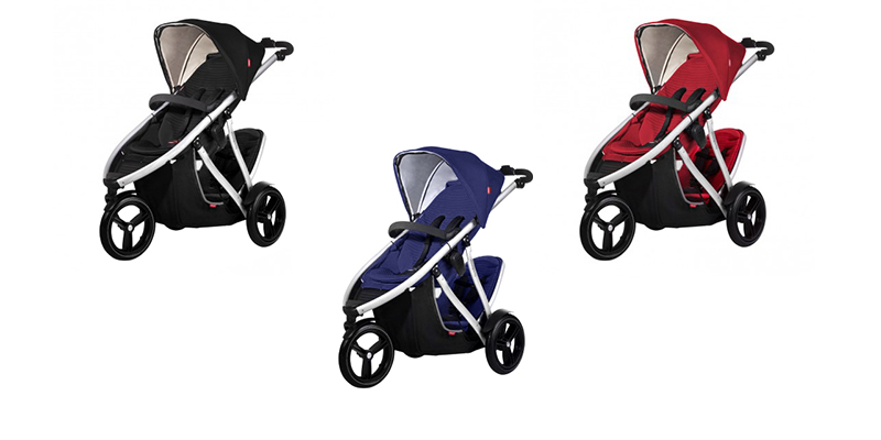Phil & Teds Vibe Buggy + double kit schwar, rot und blau