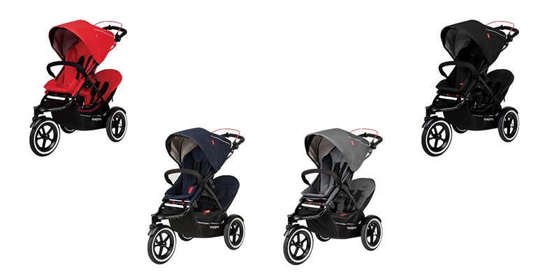 phil & teds Navigator in cherry, Midnight, Graphite und Black