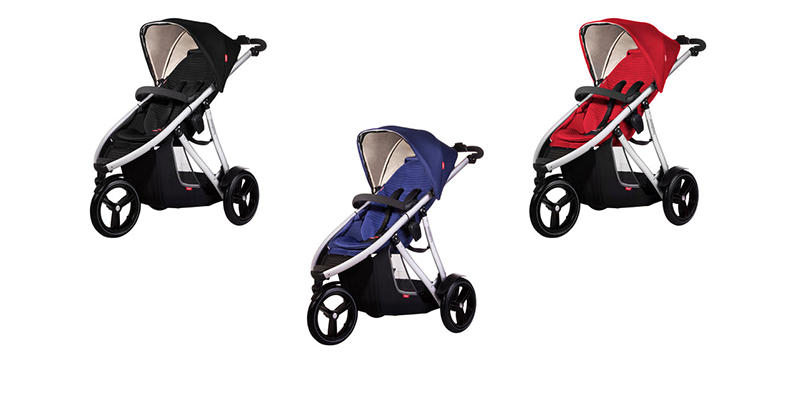 Phil & Teds Vibe Buggy rot und blau