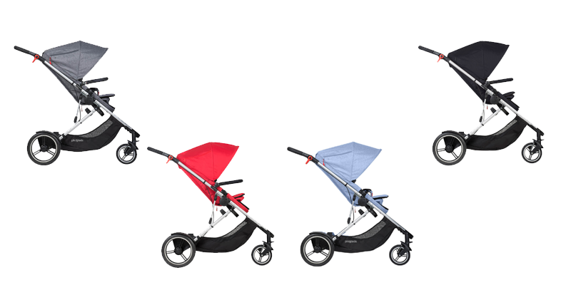 Phil & Teds Voyager Buggy in den Farben: black, red, grey marl und blue marl