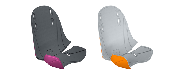 Thule RideAlong Mini Wendebezug und Purple/Dark Grey und Orange/Light Grey