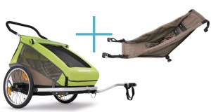 Croozer Kid for 2 child trailers + free...