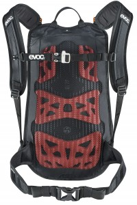 evoc Stage 12L Team Rucksack in Black-White-Neon-Orange – Bild 2