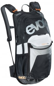 evoc Stage 12L Team Rucksack in Black-White-Neon-Orange 001