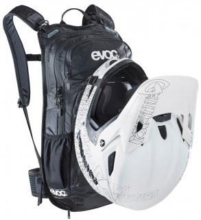 evoc Stage 12L Team Rucksack in Black-White-Neon-Orange – Bild 6