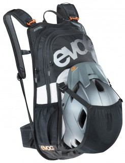 evoc Stage 12L Team Rucksack in Black-White-Neon-Orange – Bild 5