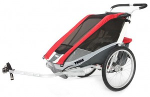 Thule Chariot Cougar 1 rot inkl. Fahrrad...