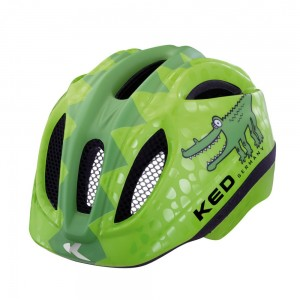 KED MEGGY REPTILE Green Croco - Kinderfahrradhelm 001