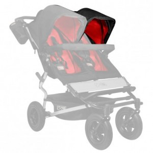 Mountain Buggy Sonnendach / sunhood für Duet black/chilli links 001