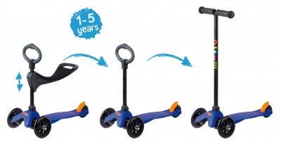 Mini Micro 3in1 Kinderroller Blau – Bild 2