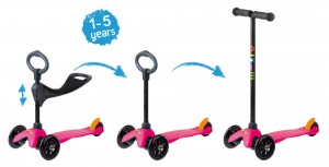 Mini Micro 3in1 Kinderroller Pink – Bild 2