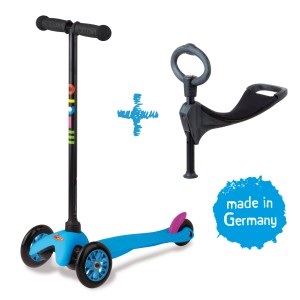 Mini Micro 3in1 Kinderroller Neon Blau – Bild 1