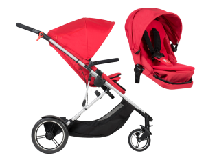 Kinderwagen Phil & Teds Voyager double kit bundle red 2018