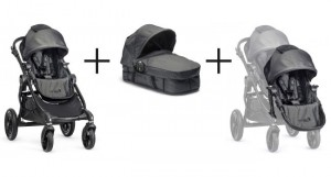 Baby Jogger CITY SELECT Premiumpaket  Black Denim 001